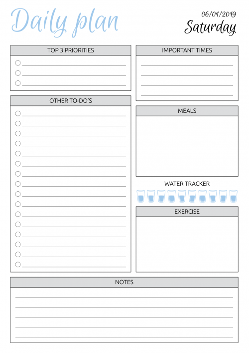 image regarding Daily Planner Template referred to as Limitless Planner
